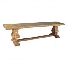Hamptons Pedestal Dining Bench Seat