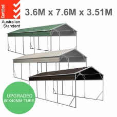 Carport 3.6 x 7.6m x 3.51m (Gable) Backyard Boat Portable Vehicle Shelter