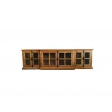 French Provincial Casement 6 casement Glass Doors TV Entertainment Unit /Stand