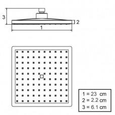 Rain Showerhead -230mm Squared