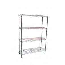 Modular Chrome Wire Storage Shelf 1200 X 450 X 1800 Steel Shelving