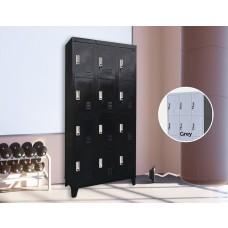 12 Door Locker - Office/gym - Black