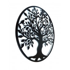 Black Tree Of Life Wall Art Hanging Metal Iron Sculpture Garden 99cm