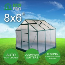 EcoPro Greenhouse 8 x 6ft - Polycarbonate Panels