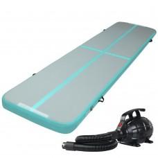Everfit Gofun 4x1m Inflatable Air Track Mat With Pump Tumbling Gymnastics Green