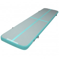 Everfit Gofun 4x1m Inflatable Air Track Mat Tumbling Floor Home Gymnastics Green