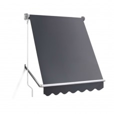 1.5m X 2.1m Retractable Fixed Pivot Arm Awning - Grey