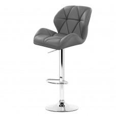 Artiss 2x Bar Stools Gas Lift Kitchen Swivel Chairs Leather Chrome Grey