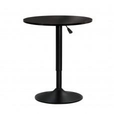 Artiss Adjustable Bar Table Gas Lift Wood Metal Black