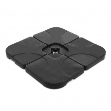 4 Piece Umbrella Base Set - Black