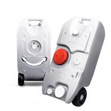 40l Portable Wheel Water Tank Grey