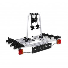 Bicycle Bike Carrier Rack  W/ Tow Ball Mount Black Silver