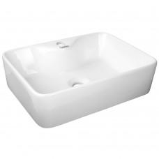 Rectangle Ceramic Wash Basin White