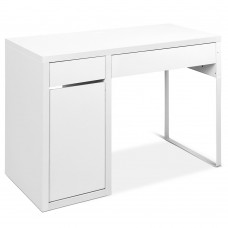Office Study Computer Desk Cabinet White