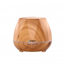 Devanti Ultrasonic Aroma Aromatherapy Diffuser Oil Electric Led Air Humidifier 400ml Light Wood