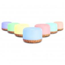 Devanti Aroma Diffuser Aromatherapy Led Night Light Air Humidifier Purifier Light Wood Grain 500ml