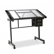 Adjustable Drawing Desk - Black And Grey