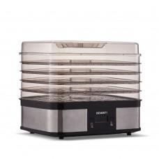 Devanti Food Dehydrator With 5 Trays - Silver