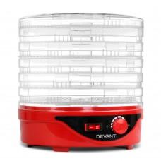 7 Tray Food Dehydrator Red