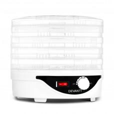 5 Tray Round Food Dehydrator White