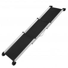 Deluxe Aluminium Foldable Pet Ramp - Black