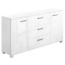 High Gloss Sideboard Storage Cabinet Cupboard White