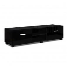 Artiss 140cm High Gloss Tv Cabinet Stand Entertainment Unit Storage Shelf Black