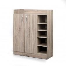 2 Doors Shoe Cabinet Storage Cupboard Wooden