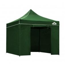 3x3 Pop Up Gazebo Hut With Sandbags Green