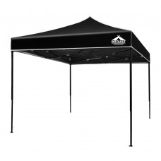 Instahut 3x3m Pop Up Gazebo Replacement Roof Outdoor Wedding Tent Garden Marquee Black