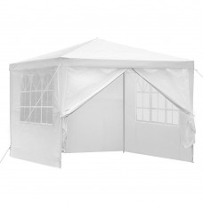 Instahut 3x3m Wedding Gazebo Outdoor Camping 4 Panels White
