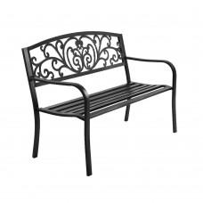 Gardeon Cast Iron Garden Bench - Black