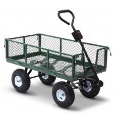 Mesh Garden Steel Cart - Green