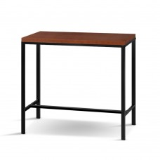 Artiss Vintage Bar Table Alex Retro Pine Wood Metal Frame