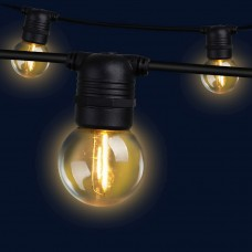 Jingle Jollys 41m Led Festoon String Lights 40 Bulbs Kits Wedding Party Christmas G45
