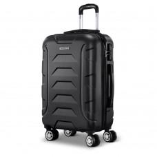 "Wanderlite 20"" Luggage Sets Suitcase Trolley Travel Hard Case Lightweight Black"