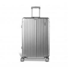 """Wanderlite 28"""" Aluminium Luggage Trolley - Silver"""