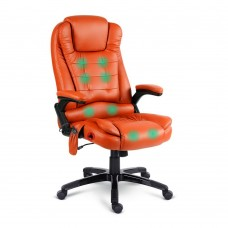 Pu Leather 8-point Massage Office Chair