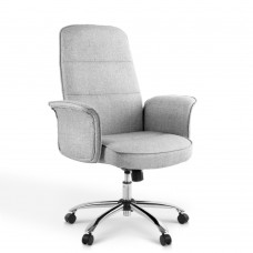 Modern Office Fabric Desk Chair Grey