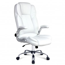 Pu Leather Racing Style Office Chair White
