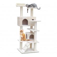 Cat Scratching Post  Tree House Condo 134cm Beige