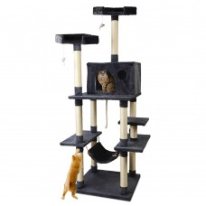 Pet Cat Tree Trees Scratching Post Scratcher Toys Condo House Furniture Wood