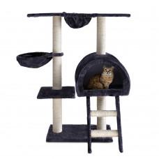Cat Scratching Poles Post Furniture Tree 100cm Dark Grey