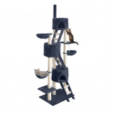 Cat Scratching Poles Post Furniture Tree 244cm Dark Grey