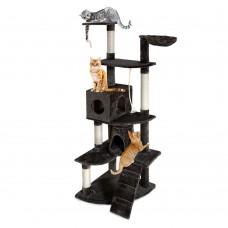 Cat Scratching Poles Post Furniture Tree 193cm Dark Grey