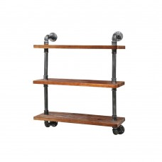 Rustic Industrial Diy Floating Pipe 3 Level 61cm Shelf