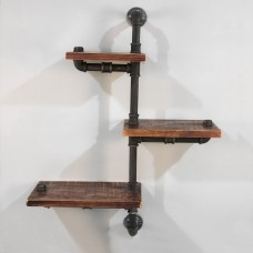 Rustic Industrial Diy Floating Pipe 3 Level Left N Right 84cm Shelf