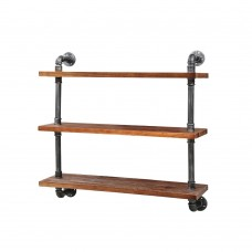 Rustic Industrial Diy Floating Pipe 3 Level 92cm Shelf