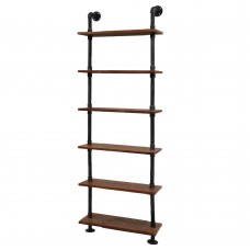 Rustic Industrial Diy Floating Pipe 6 Level 60cm Shelf