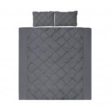 Super King 3-piece Quilt Set Charcoal